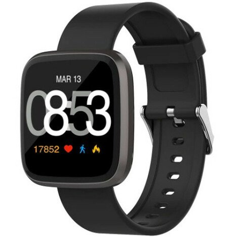 Ceas Smartwatch iUni H5, Touchscreen, Bluetooth, Notificari, Pedometru, Black